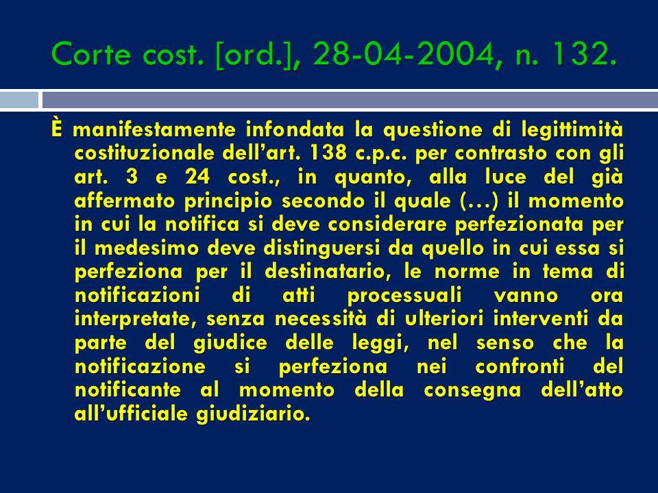 Corte cost. [ord.], 28-04-2004, n. 132.